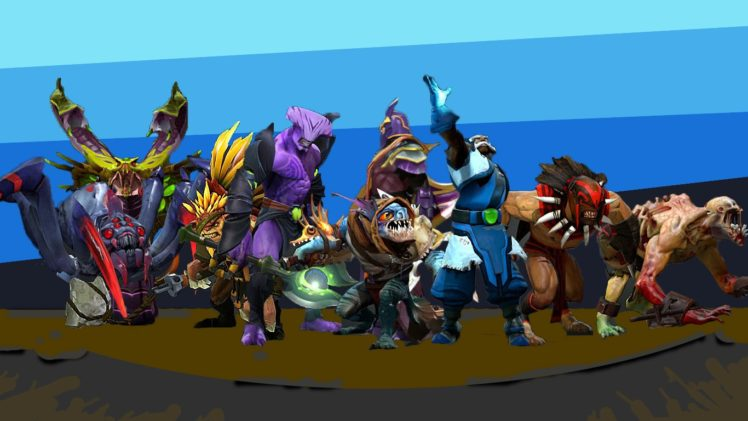 Faceless Void, Dota 2, Steam (software), Slark, Bloodseeker, Broodmother, Vipers, Zeus (DoTa2), Bristleback, Nortrom HD Wallpaper Desktop Background