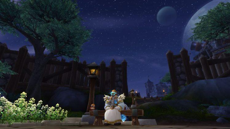 dwarfs, Priest, World of Warcraft, Dwarf, Stormshield, Night, Moon HD Wallpaper Desktop Background