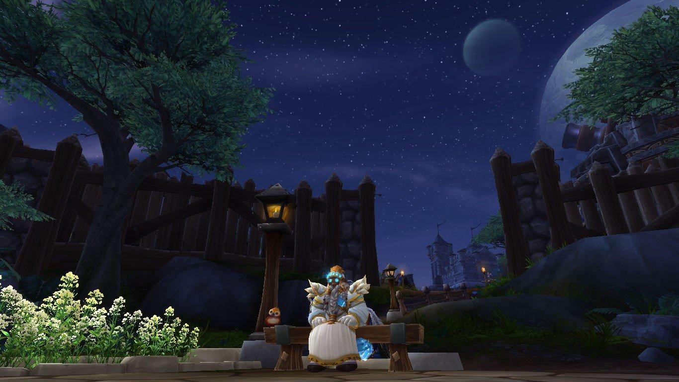 dwarfs, Priest, World of Warcraft, Dwarf, Stormshield, Night, Moon Wallpaper