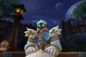 dwarfs, Priest, World of Warcraft, Dwarf, Stormshield, Night, Moon