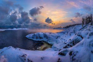 nature, Winter, Sky, Snow, Landscape
