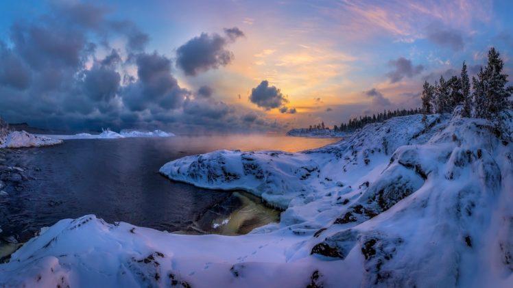 Nature Winter Sky Snow Landscape Hd Wallpapers Desktop And Mobile Images Photos