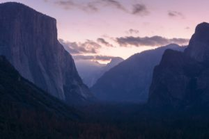 landscape, Sunset, Mountains, Forest, Yosemite National Park