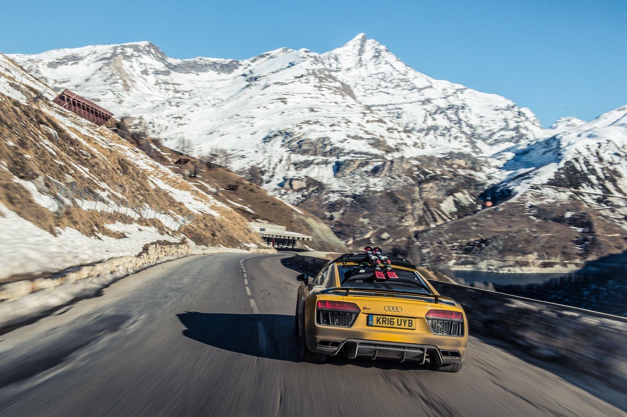 mountains, Road, Vehicle, Car, Audi Wallpaper