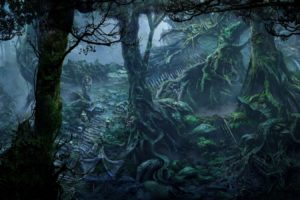 fan art, Fantasy art, Forest