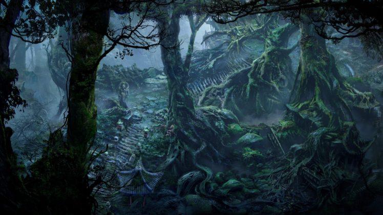 fan art, Fantasy art, Forest HD Wallpaper Desktop Background