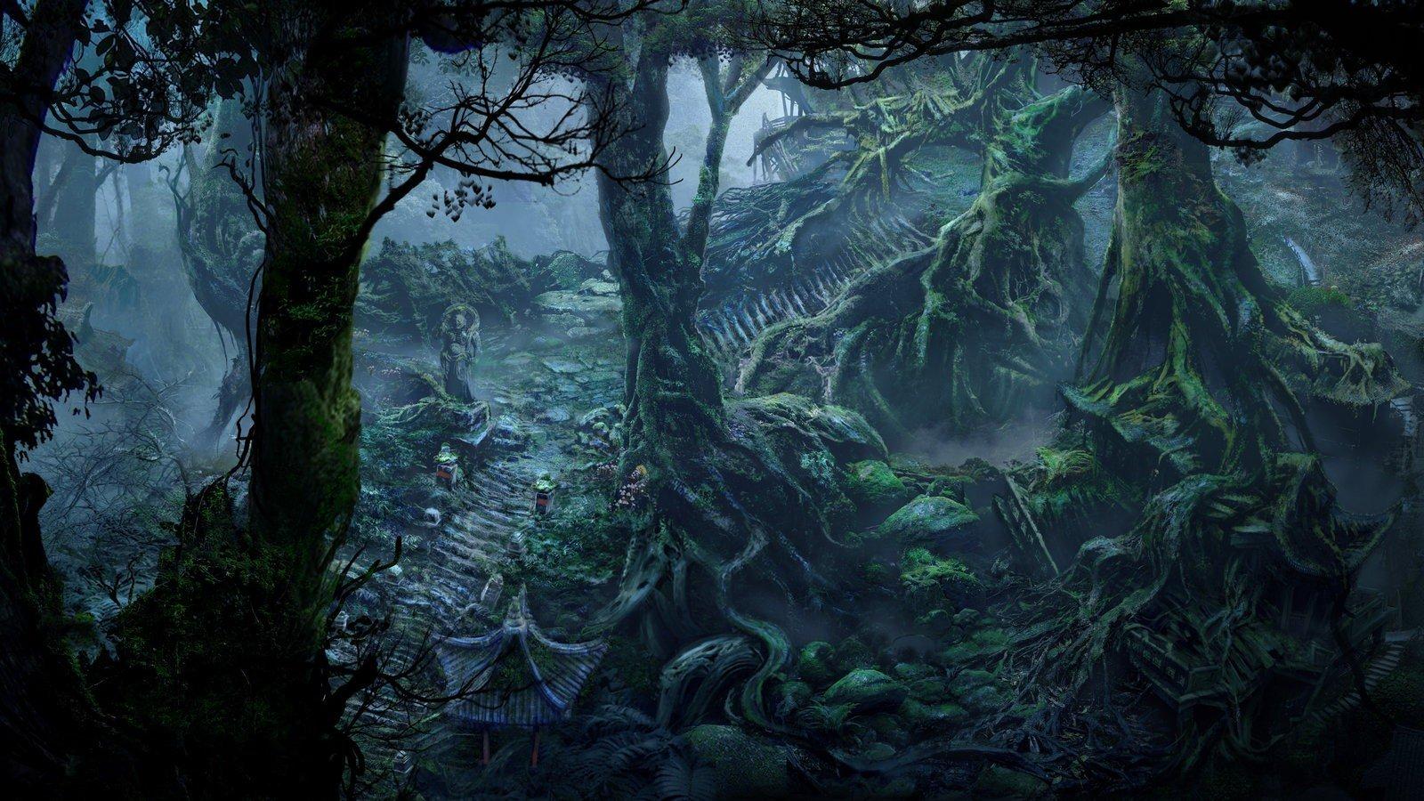 fan art, Fantasy art, Forest Wallpaper