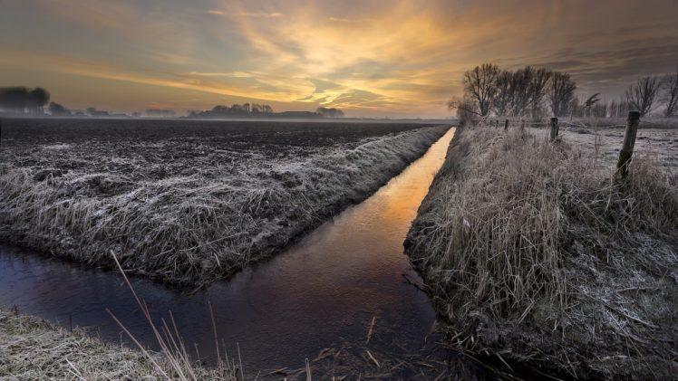 winter, Landscape, Nature, Sky, Clouds HD Wallpaper Desktop Background