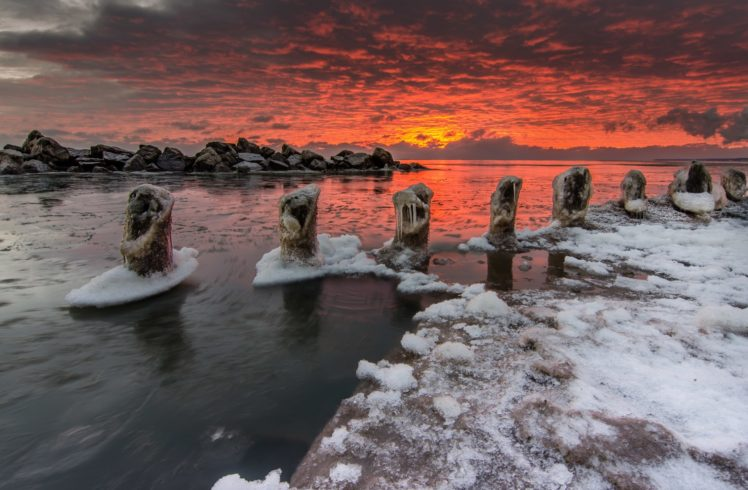 winter, Sky, Sunlight, Clouds, Landscape, Nature HD Wallpaper Desktop Background