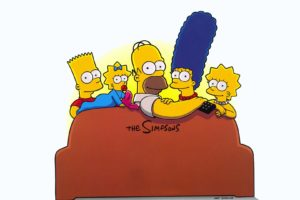 Bart Simpson, Marge Simpson, Lisa Simpson, Maggie Simpson, The Simpsons, Homer Simpson, Couch