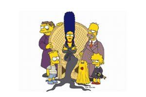 Bart Simpson, Marge Simpson, Lisa Simpson, Maggie Simpson, The Simpsons, Homer Simpson, The Addams Family