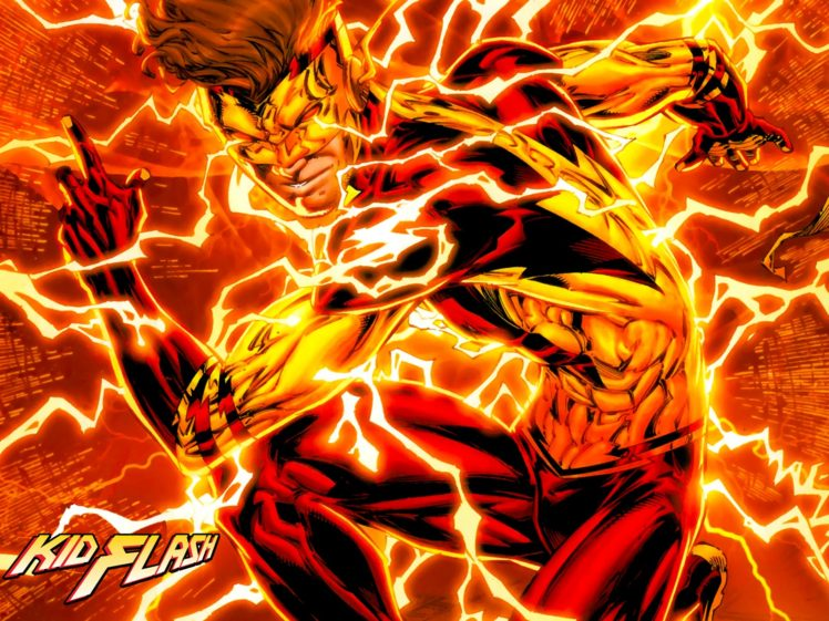 kid flash superhero hd wallpapers desktop and mobile