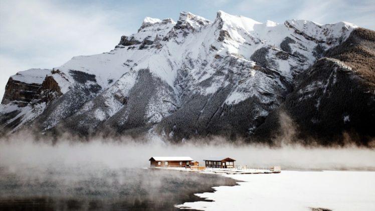 Canada, Mountains, Snow, Winter, Nature, Landscape HD Wallpaper Desktop Background