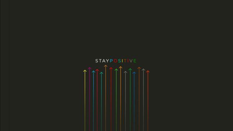 stay, Positive, Green, Yellow, Black, Reeds, Minimalism, Simple background, Typography, Arrows (artwork) HD Wallpaper Desktop Background