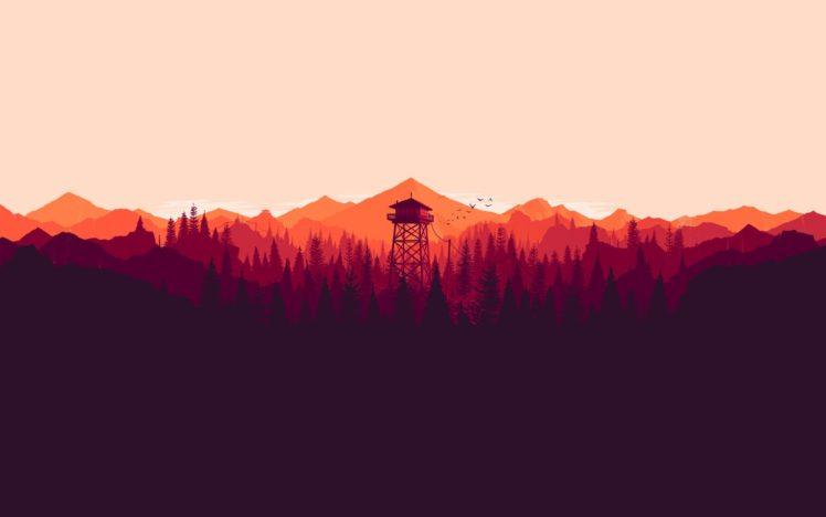 minimalism, Landscape, Firewatch HD Wallpaper Desktop Background