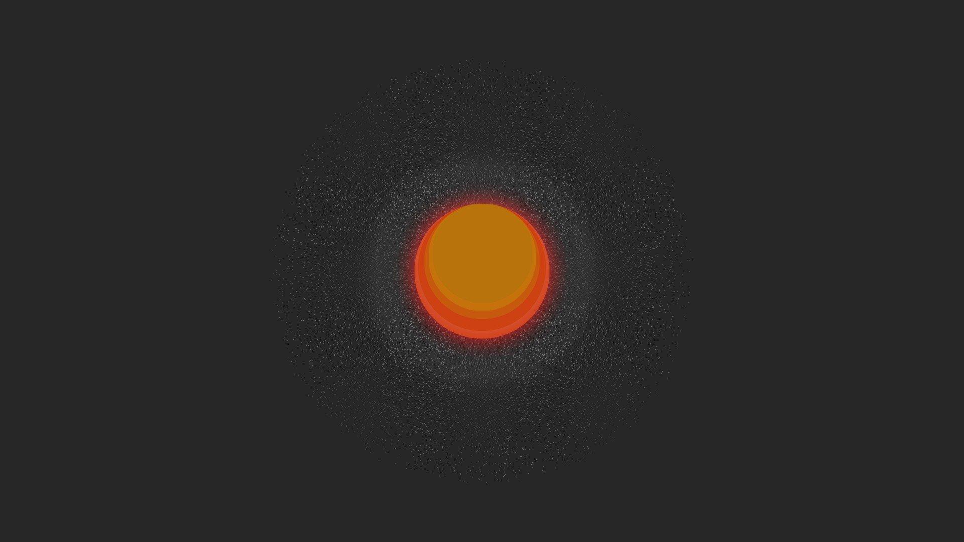 Sun Orange Red Simple Minimalism Simple Background Space Art