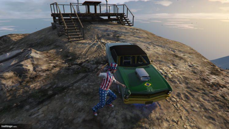 Grand Theft Auto V, Grand Theft Auto Online, Uncle Sam, Grand Theft Auto, Video games HD Wallpaper Desktop Background
