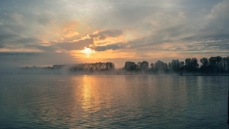 sky, Clouds, Sunlight, Water, Landscape, Nature HD Wallpaper Desktop Background