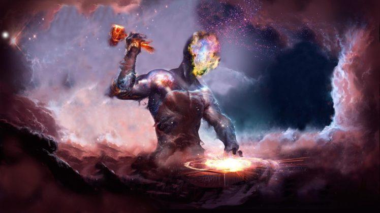 anvil, Galaxy, Artwork, Fantasy art HD Wallpaper Desktop Background