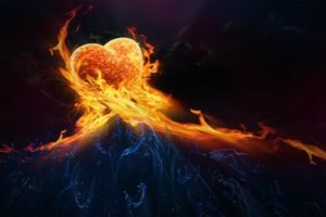 heart shaped, Fire