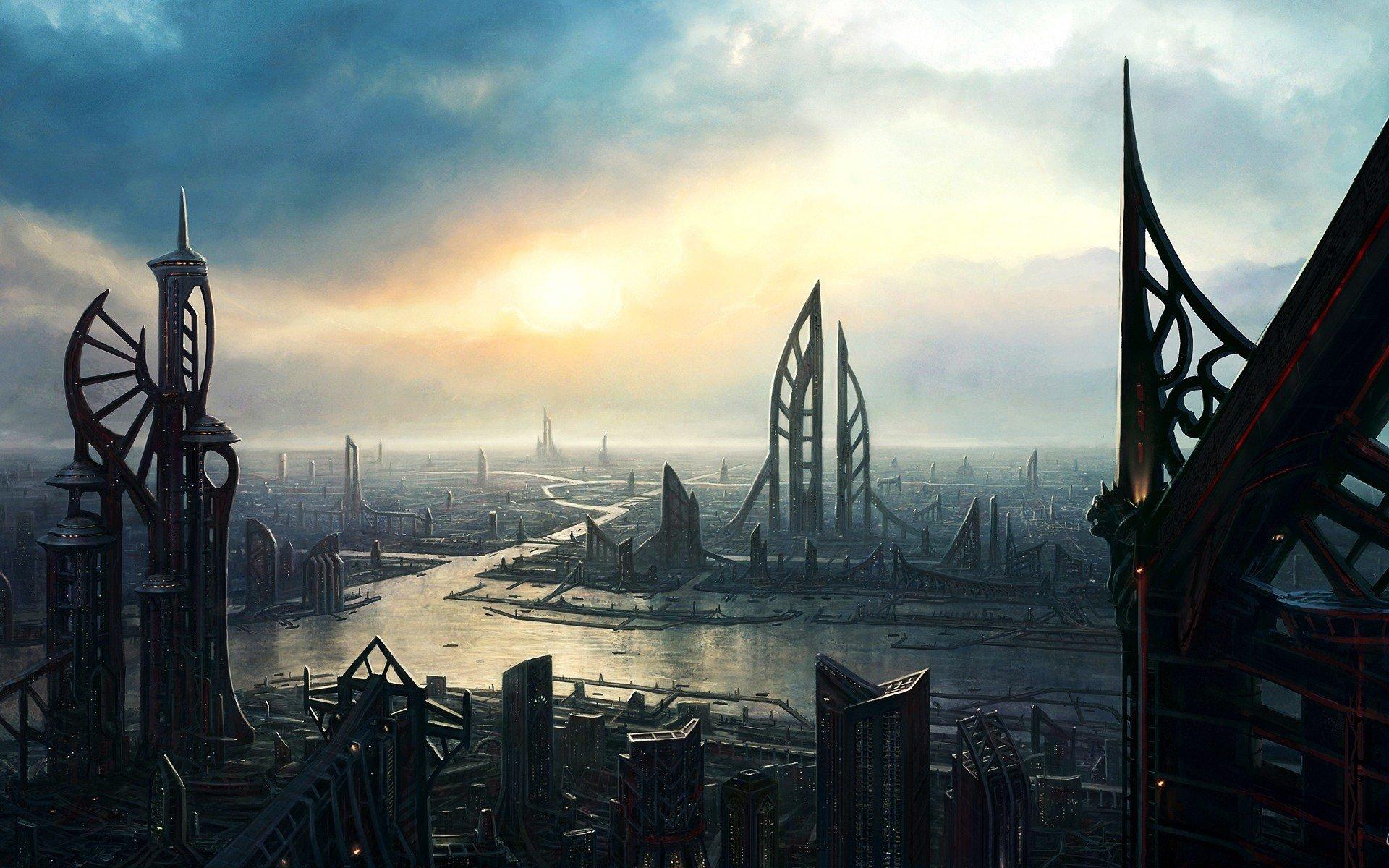 Science Fiction Aliens Alien World Hd Wallpapers Desktop And