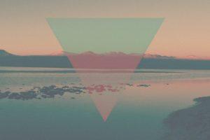 minimalism, Mountains, Desert