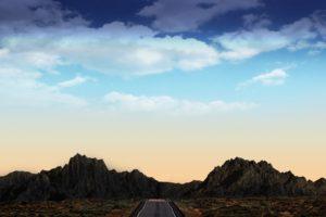 wa4k wallpaper, Black dress, Mountains, Landscape, Road