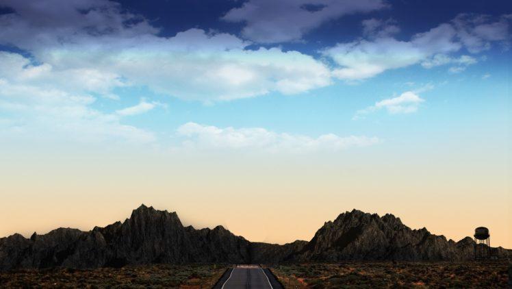 wa4k wallpaper, Black dress, Mountains, Landscape, Road HD Wallpaper Desktop Background