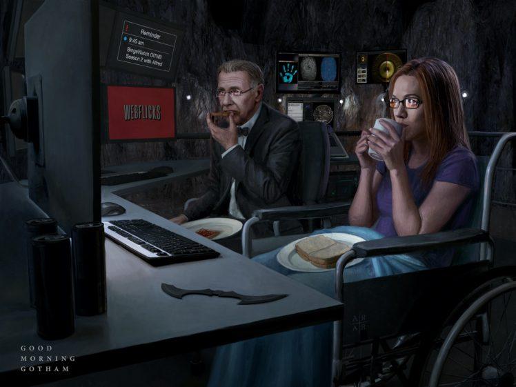 Alfred Pennyworth, Comics, DC Comics, Oracle, Batcave HD Wallpaper Desktop Background