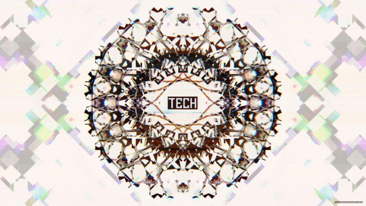 Glitch Art Tech White Abstract Fractal Symmetry Hd Wallpapers