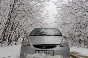 Honda, Snow, Forest
