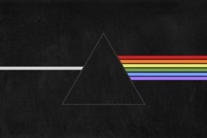 Pink Floyd, Triangle, Prism, The Dark Side of the Moon, Black, Vector