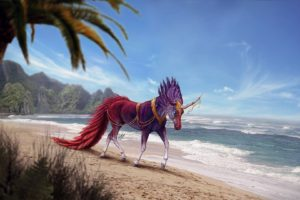 creature, Artwork, Fantasy art, Unicorn