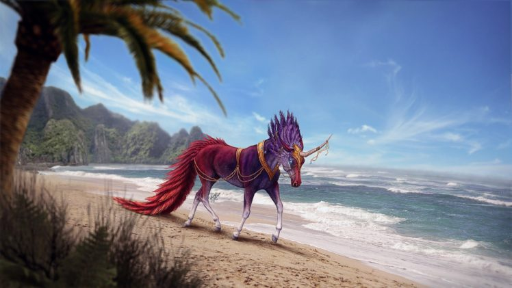 creature, Artwork, Fantasy art, Unicorn HD Wallpaper Desktop Background