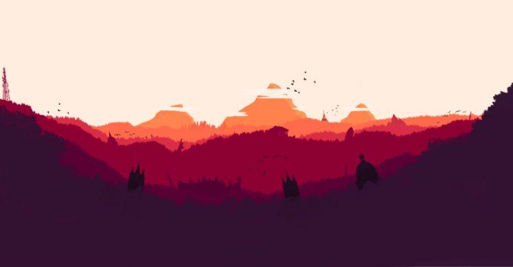 466952-landscape-Firewatch-flying-mountains-mountain_pass-pixel_art-cityscape-Lost_Planet-748x389 Pixel Art Wallpaper Hd @koolgadgetz.com.info