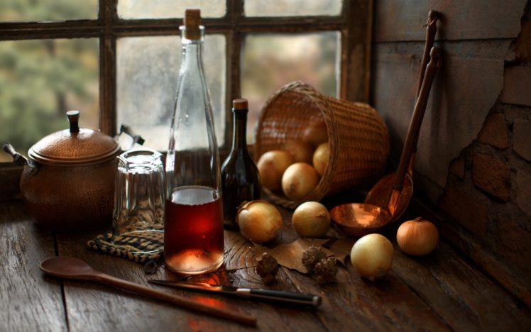 Onions, Food, Spoon, Window HD Wallpaper Desktop Background