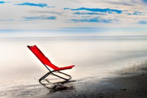 chair, Sea, Sky, Horizon, Clouds, Beach