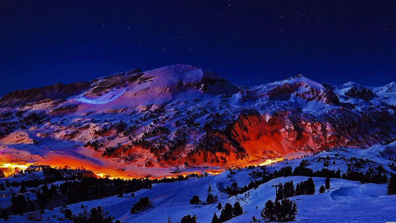 Mountains Night Hd Wallpapers Desktop And Mobile Images