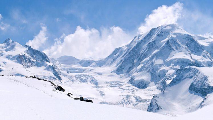 winter, Snow, Mountains HD Wallpaper Desktop Background