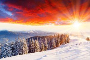 winter, Snow, Mountains, Nature