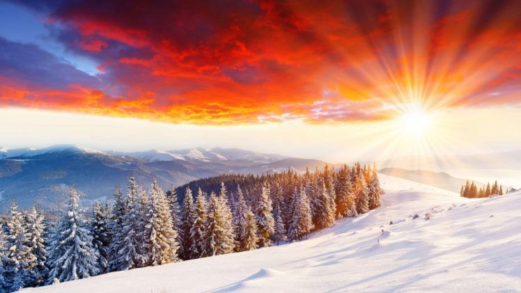 winter, Snow, Mountains, Nature HD Wallpaper Desktop Background