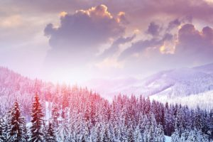 winter, Snow, Mountains