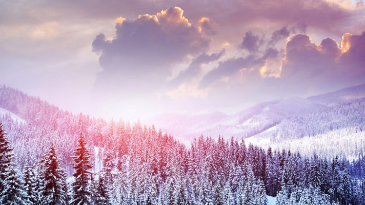 winter, Snow, Mountains HD Wallpaper Desktop Background