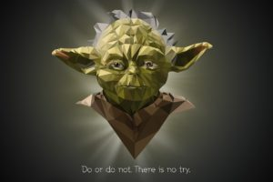 Yoda, Star Wars, Quote, Low poly