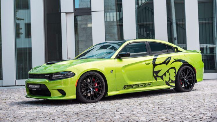 car, Green car, Dodge Charger Hellcat HD Wallpaper Desktop Background