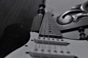 monochrome, Musical instrument, Guitar