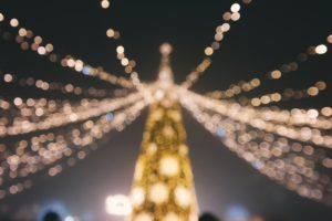 lights, Bokeh, Christmas ornaments