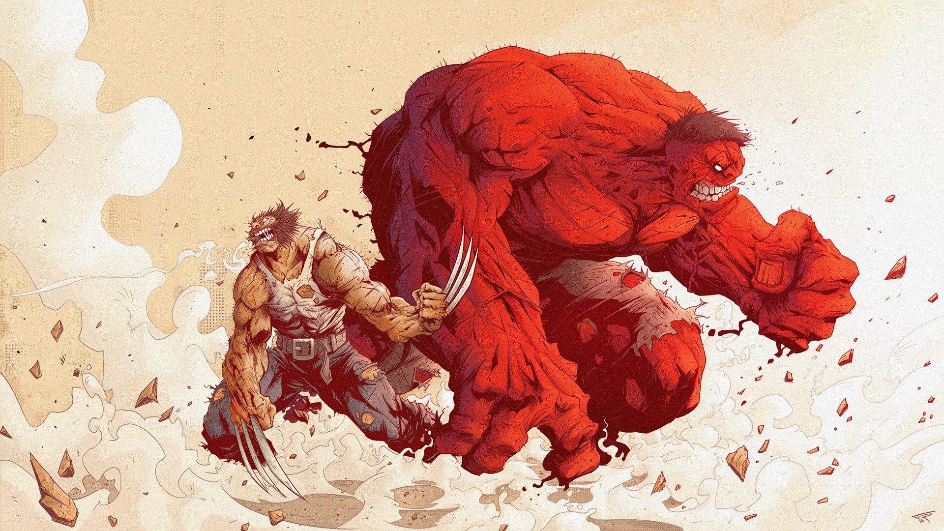 Wolverine, Marvel Comics, Hulk, Red hulk HD Wallpapers ...