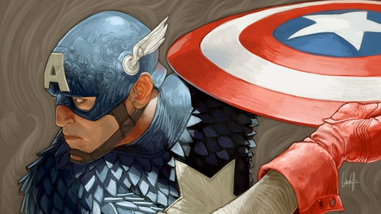 Marvel comics painting captain america hd wallpapers - Captain america hd mobile wallpaper ...