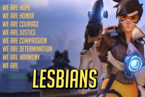 lesbians, Canon, Tracer (Overwatch)